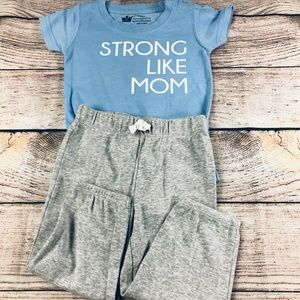 Baby Boy 'strong like mom' size 12m set